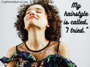 Funny Curly Hair Captions