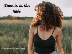 curly hair captions