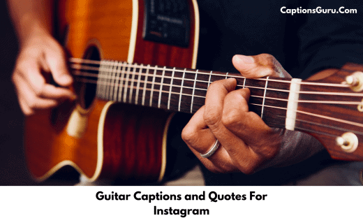 Guitar Captions and Quotes For Instagram